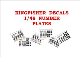 1/48 Number Plate Decals